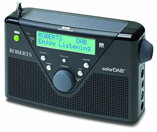 Roberts DAB / FM Digital Solar Radio - Black