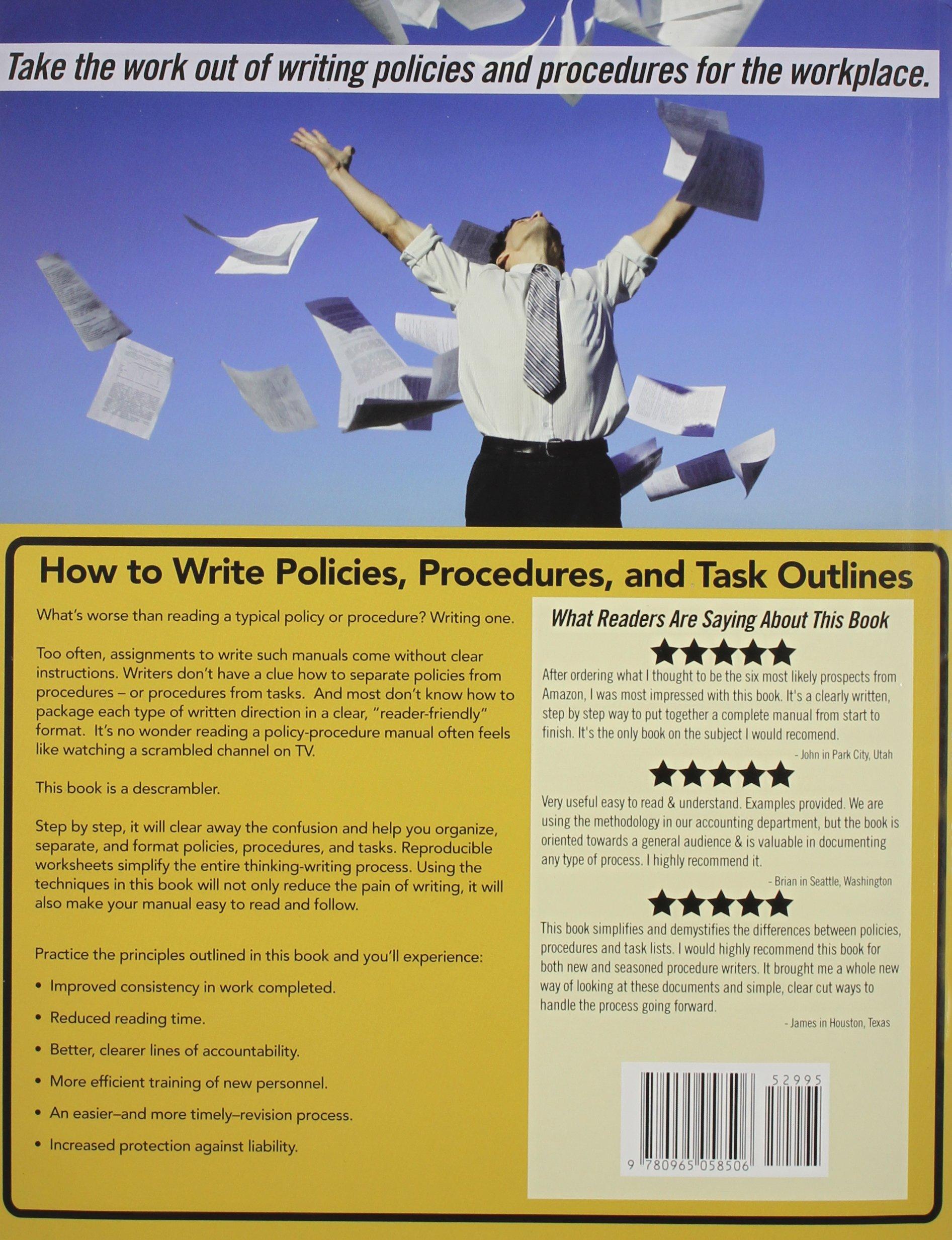 How to Write Policies, Procedures & Task Outlines: Sending