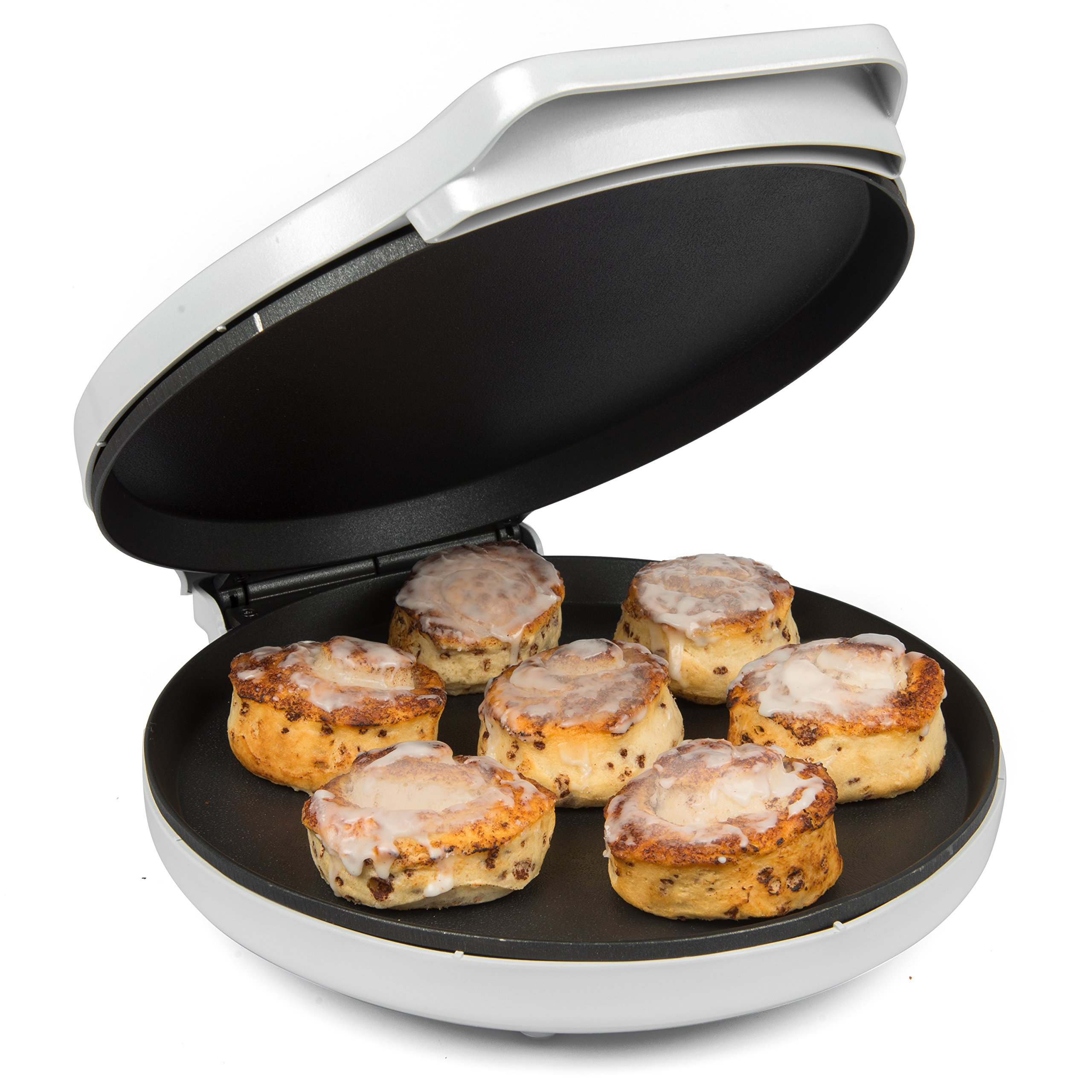 CucinaPro Pizza Maker and Everyday Baker - Electric Griddle Grill Pan Heats and Reheats in less than 2 minutes, White by CucinaPro (Image #3)