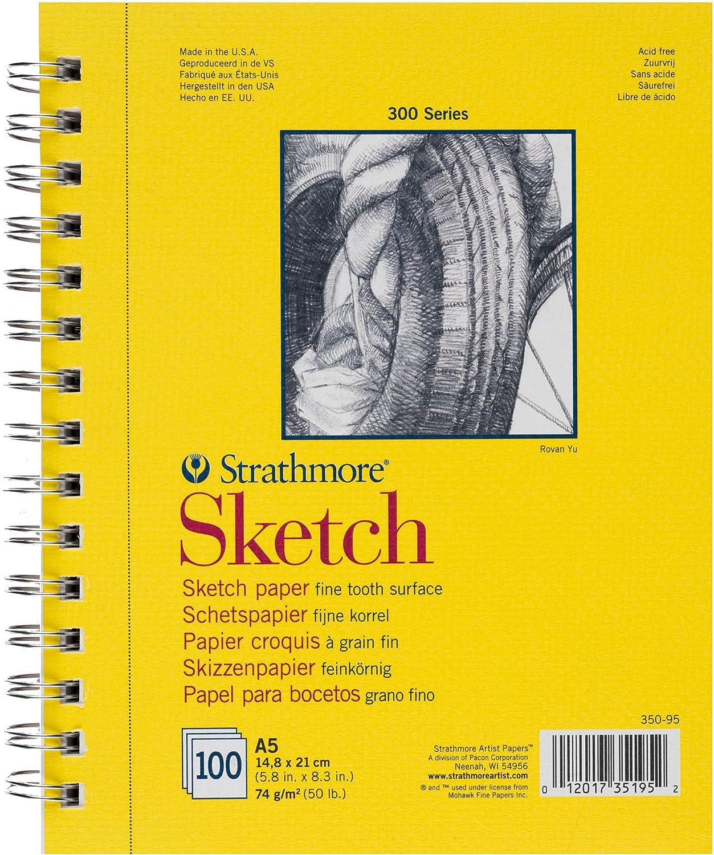 Strathmore Sketch Serie 300, Schizzo Libro DIN A5, 100 fogli 100fogli 350-95