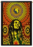 Bob Marley Cotton Indian Wall Hanging Tapestry Poster Size Muticolour Throw 42X30 Inches by Mango Gifts