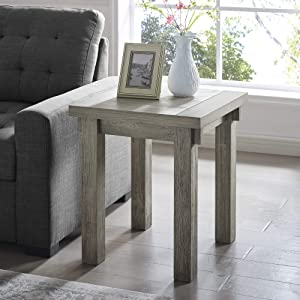 Classic Brands Cottage Farmhouse End Table, Spring Grey