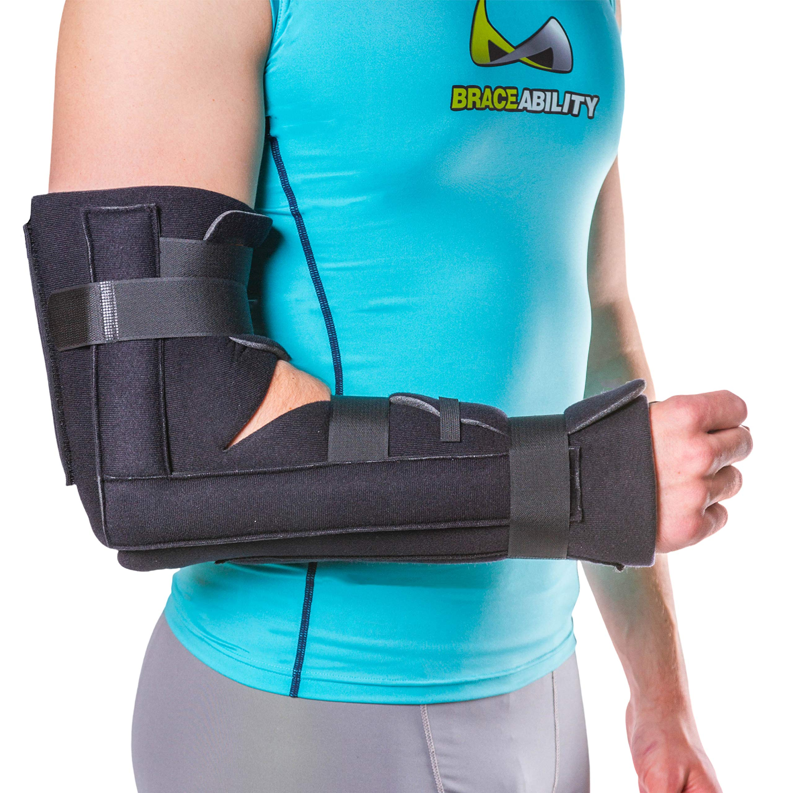 Elbow/Forearm Post-Surgery Immobilizer & Fracture Splint-S/M by BraceAbility