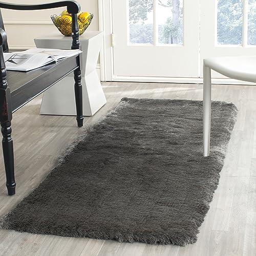 Safavieh Paris Shag Collection SG511-8383 Titanium Polyester Area Rug 3 x 5