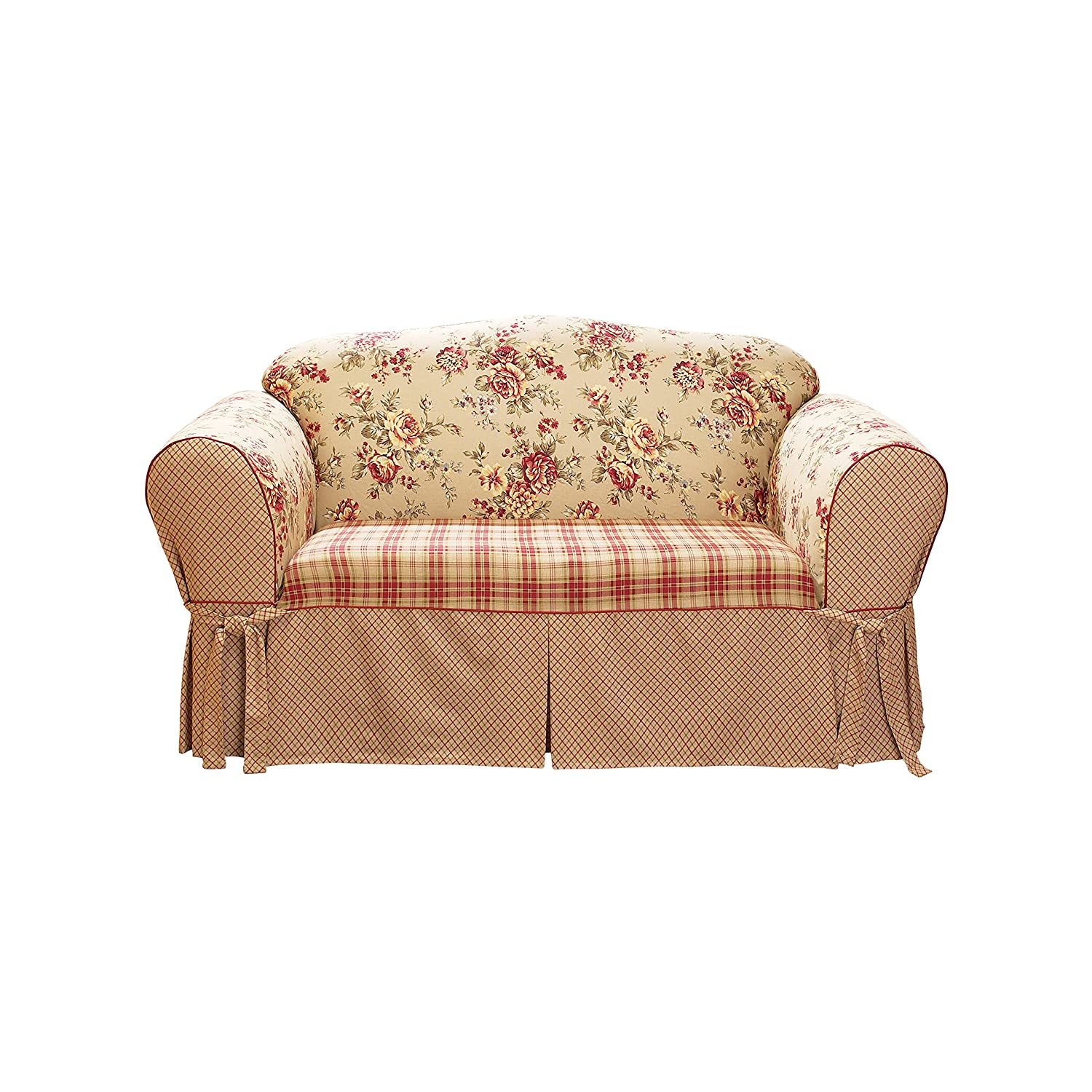 sure fit lexington loveseat slipcover multi sf28418