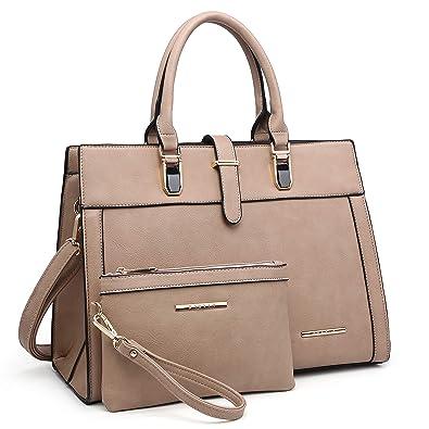 cd0b66d6c0f3 Women's Structured Handbag Fashion Top Handle Shoulder Bag Tote Satchel  Purse W/Matching Wallet