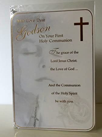 Godson First Holy Communion Card Godson 1st Holy Communion Card