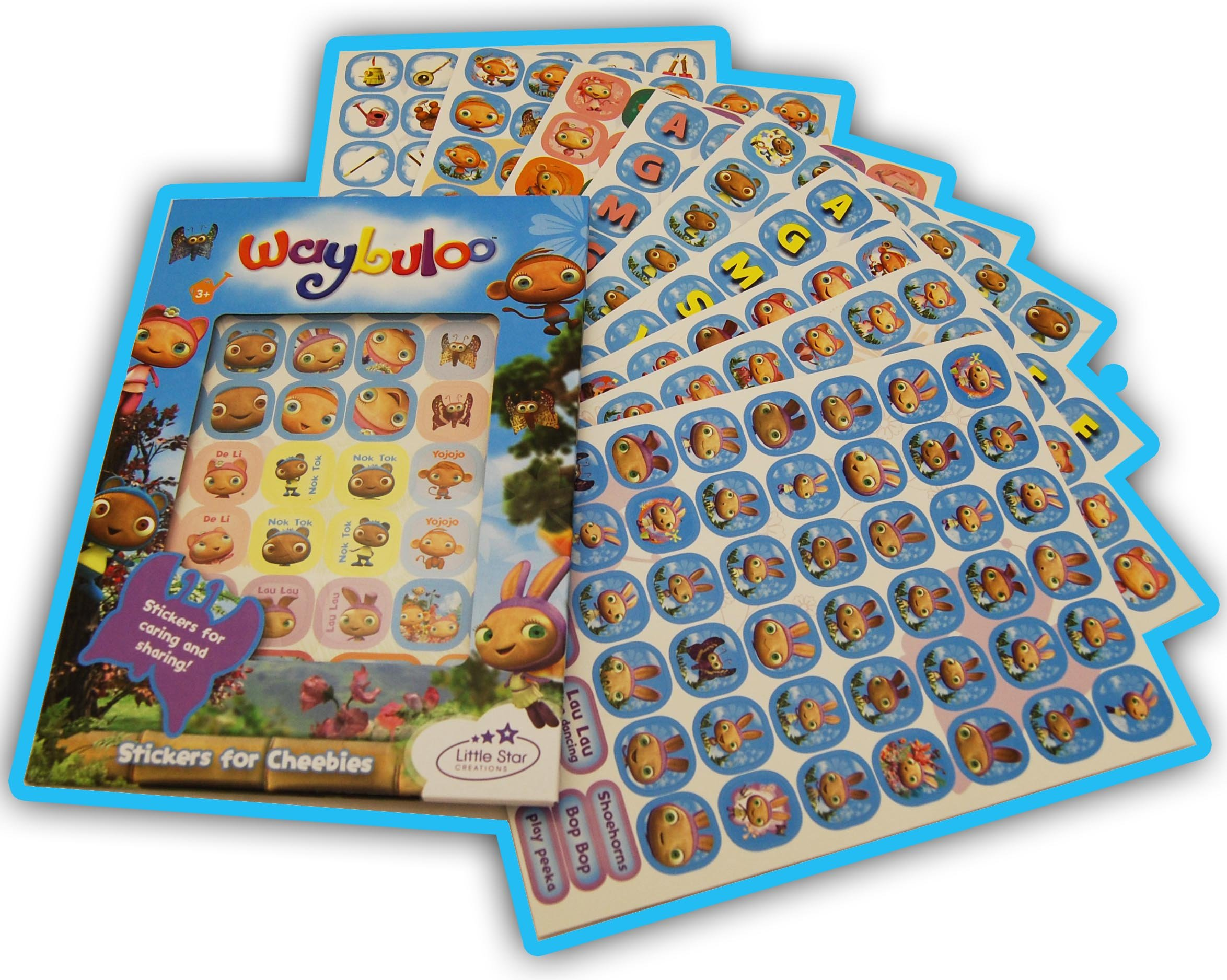 Waybuloo Cheebies Caring And Sharing Stickers Pack Cheebies Piplings De Li Yojojo Lau Lau And Nok Tok Amazon Co Uk 5011874013725 Books