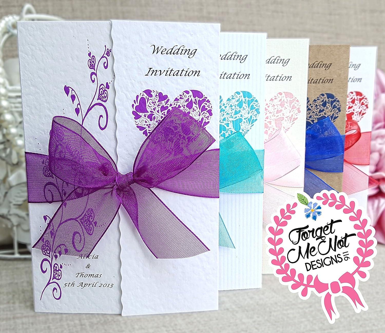 10 Personalised Handmade Gatefold Wedding day or evening ...