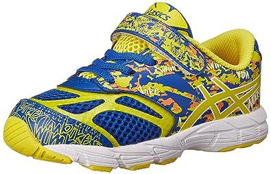 1d4a9c383a4 ASICS Kids Noosa Tri 10 TS Running Shoe Blue Flash Yellow Orange 4 M