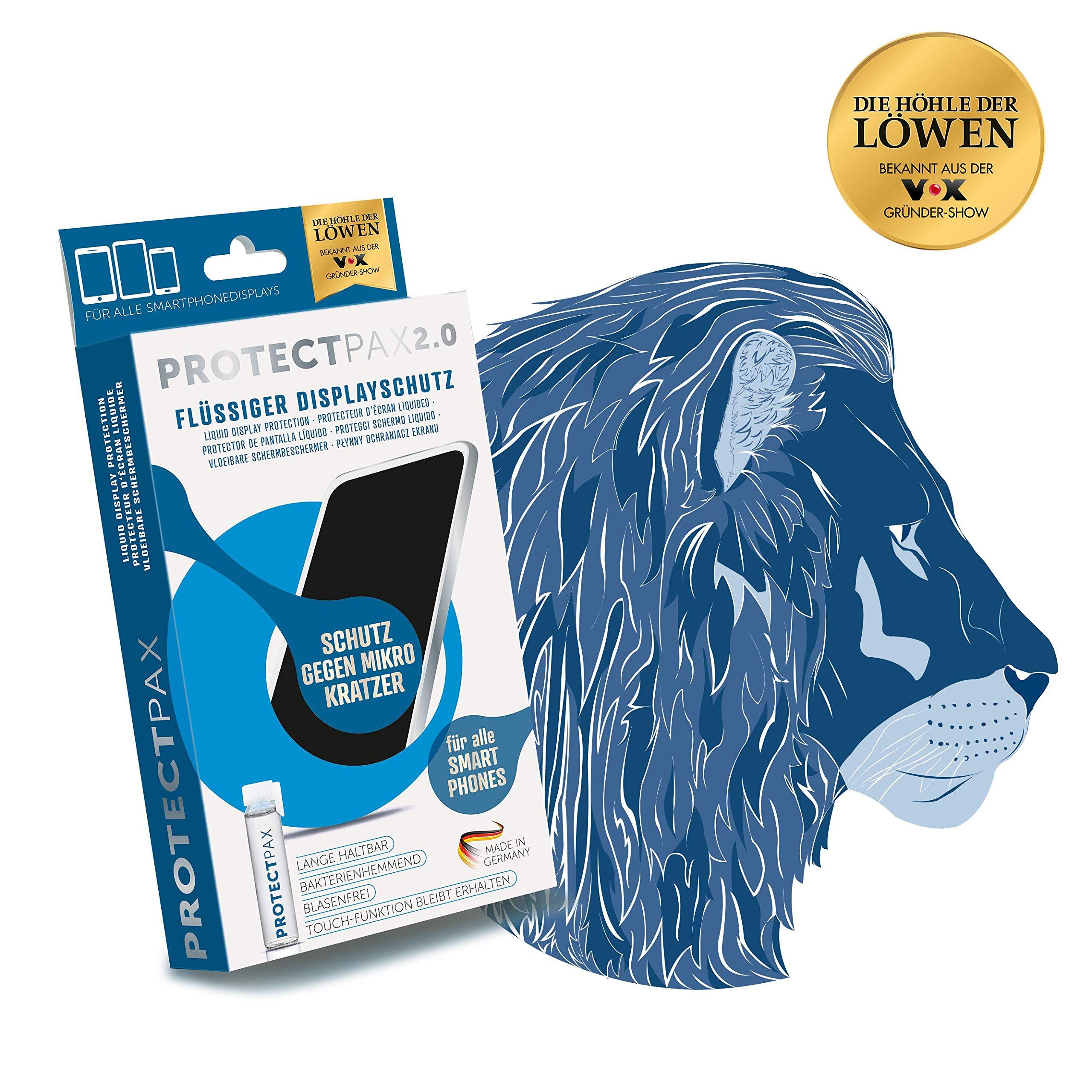 ProtectPax 2.0Protector de Pantalla para todos los Smartphones –1er Set –Protector de Nano sellado Huawei Apple Iphone Samsung Galaxy Phone Película Protector de Cristal