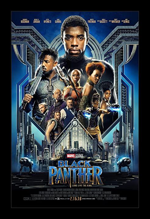 Amazon.com: Black Panther - 11x17 Framed Movie Poster by Wallspace ...