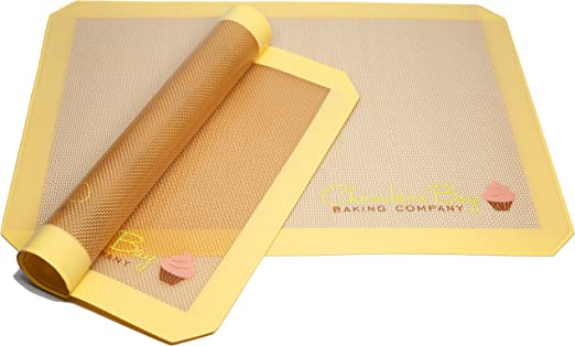 Silicone Baking Mat Pastry Sheets Cookie Liners Macaron Pizza Sheets Pack of 2