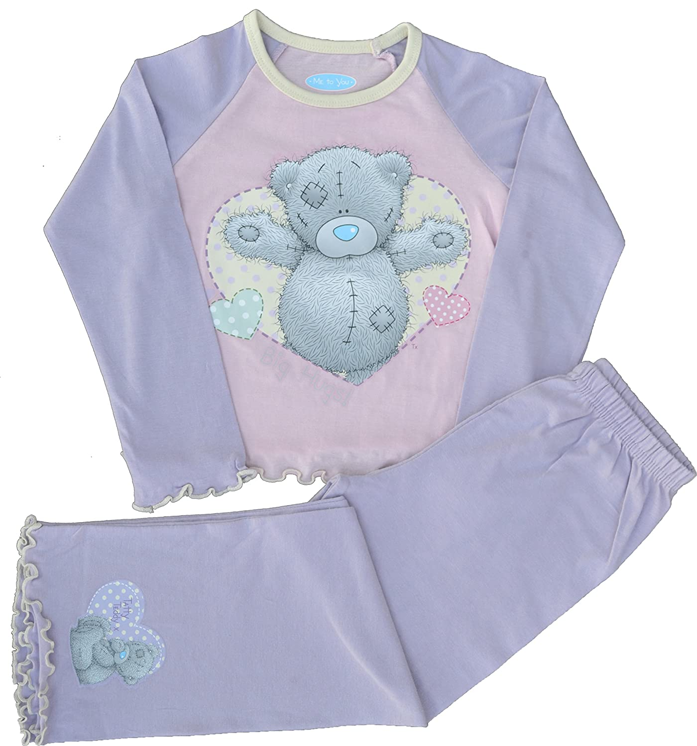 Girls Long Sleeve Leg Pyjamas with Tatty Ted detail.
