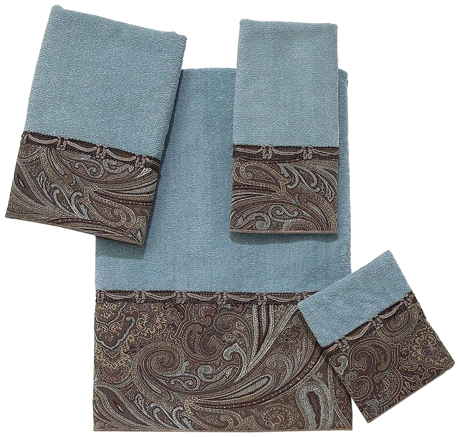 Avanti Linens BradfordEmbellished 4-Piece Decorative Towel Set Mineral
