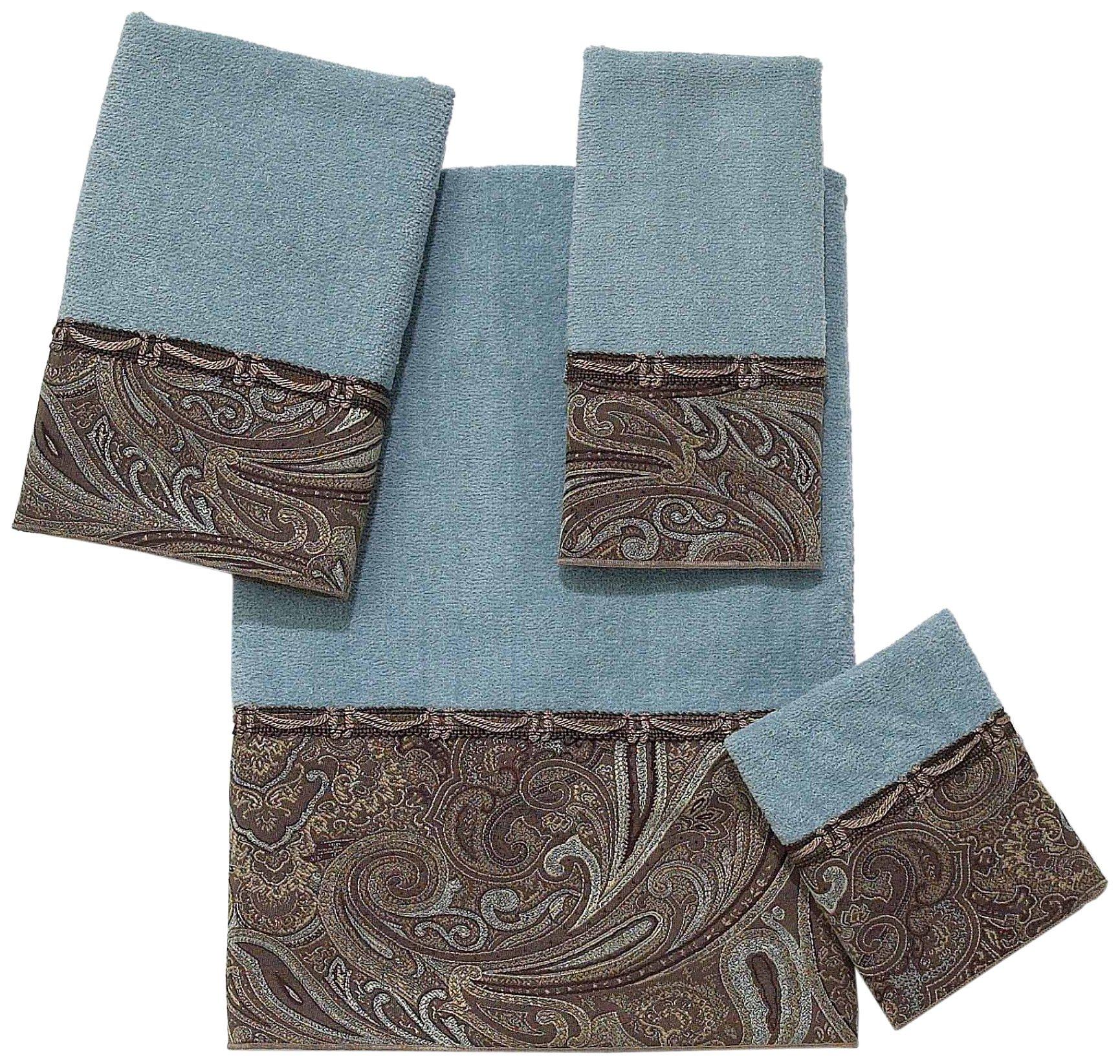 Avanti Linens Bradford  Embellished 4-Piece Decorative Towel Set Mineral