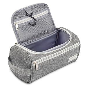 Pantheon Toiletry Organizer Wash Bag Hanging Dopp Kit Travel for Bathroom Shower (Color: Grey, Tamaño: One_Size)