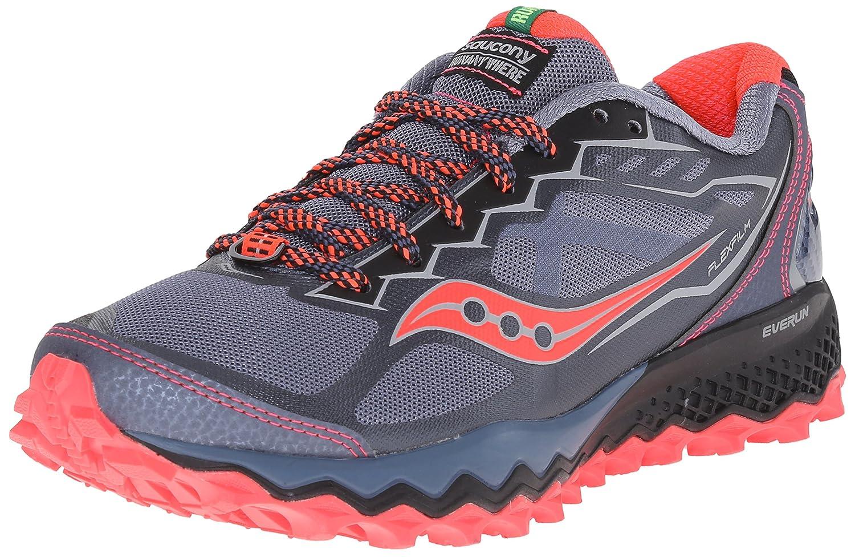 Saucony Women's Peregrine 6 Trail Running Shoe B00YBFZG72 8.5 B(M) US|Grey/Pink