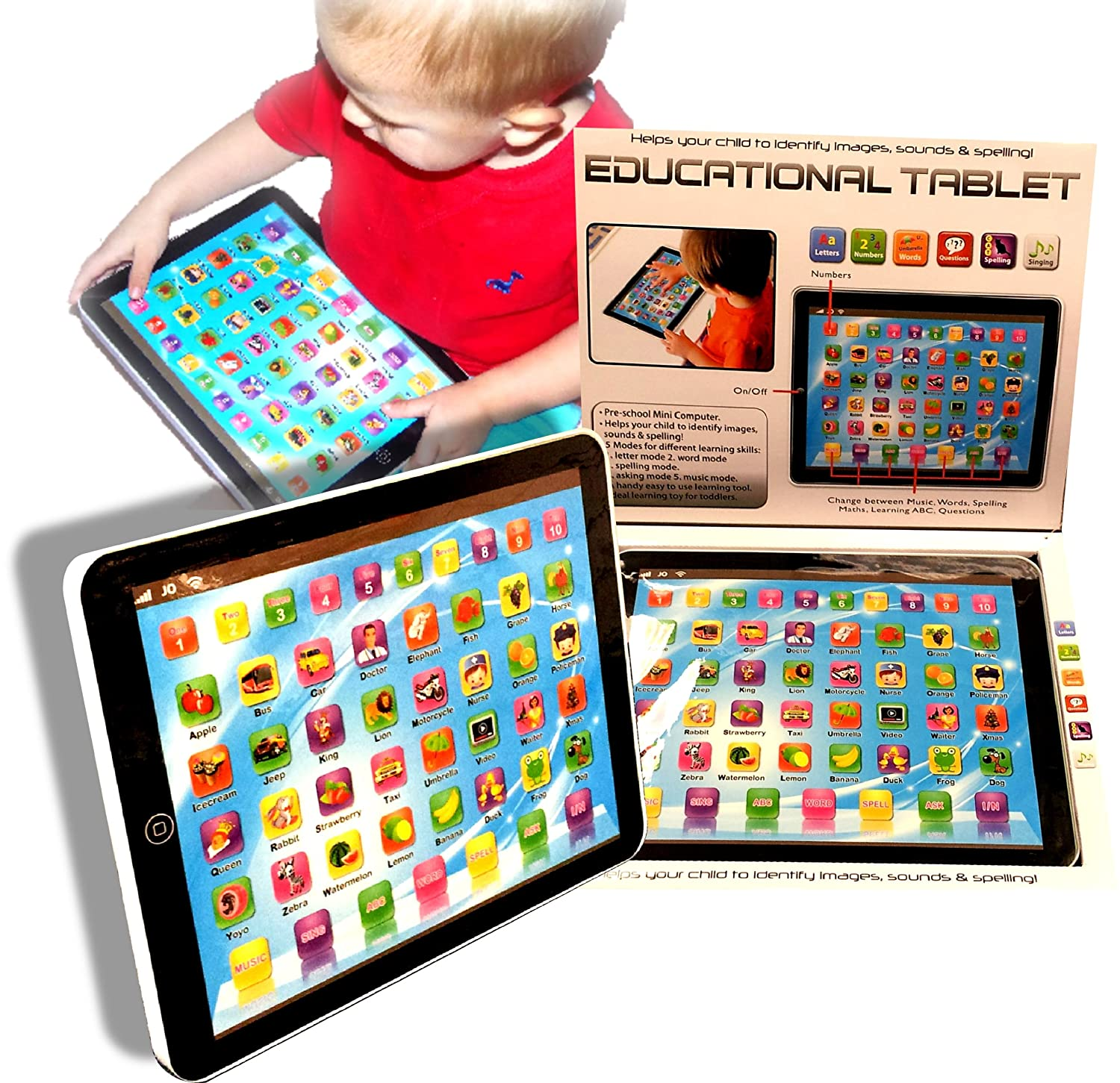 Toy Laptop iPad Mini puter Educational Tablet Toddler Child