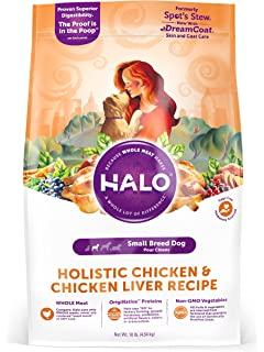 Amazon halo natural dry dog food chicken chicken liver halo holistic natural dry dog food for small breed dogs forumfinder Image collections