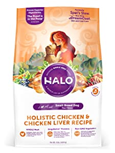 Halo Natural Dry Dog Food, Small Breed Chicken