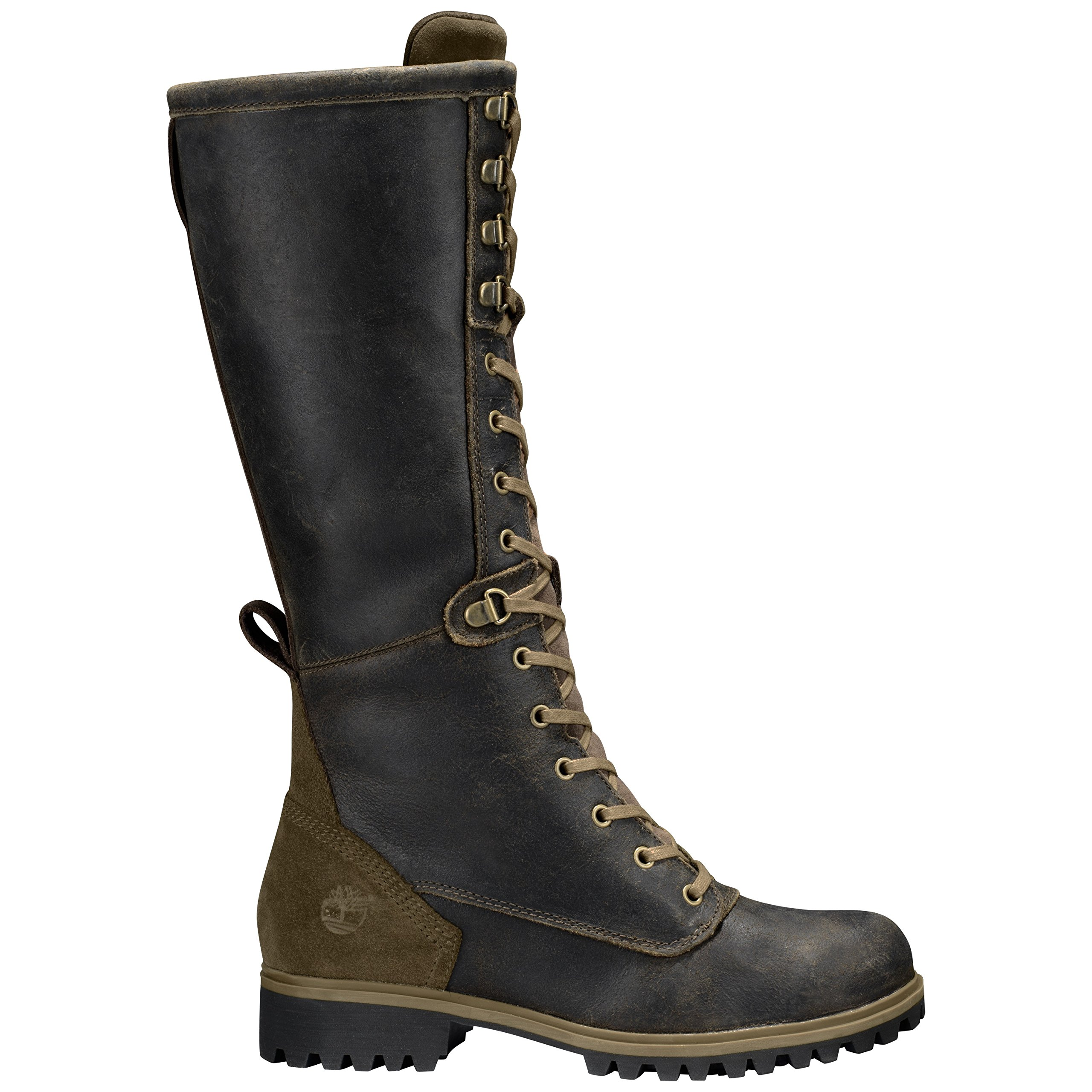 Timberland Women's Wheelwright Tall Lace Waterproof Boot 9 US M Dark Brown Suede by Timberland (Image #4)