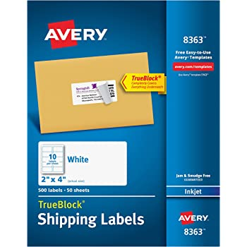 amazon com avery high visibility neon shipping labels for laser