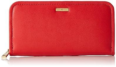 Stella Maris STMB612 02 - Cartera billetera de fiesta hecha de cuero con un diamante cartera de mano, color rojo: Amazon.es: Zapatos y complementos