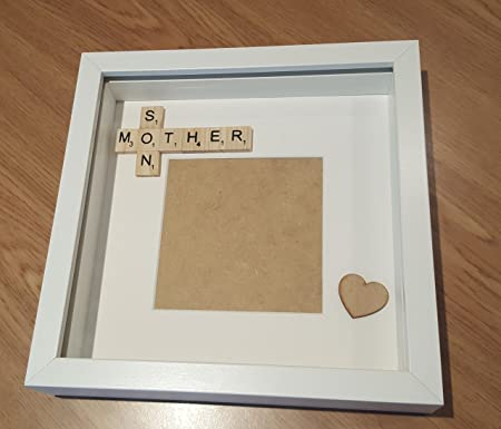 Peapodgifts Mother And Son Scrabble Frame Daughter Scrabble Frame