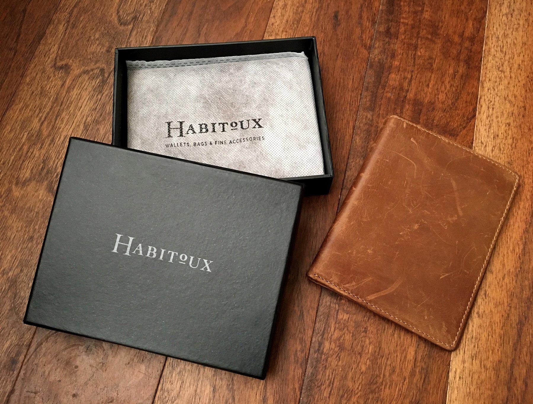 RFID Blocking Passport Holder Travel Wallet - Genuine Crazy Horse Leather by Habitoux (Image #5)