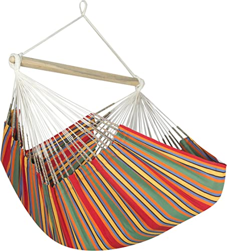 Jumbo Colombian Hammock Chair Lounger - 55 inch - Natural Cotton Cloth