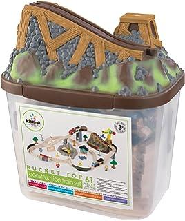 KidKraft Bucket Top Construction Train Set, 61 Piece