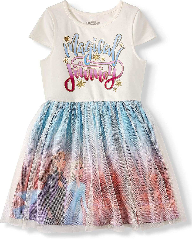 skirt Cosplay Frozen Elsa Disney Princess Costume Tutu dress Short sleeve shirt