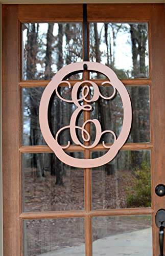 Decorative Oval Metal Monogram Door Hanger Metal Wall Art & Amazon.com: Decorative Oval Metal Monogram Door Hanger Metal Wall ...