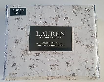 Amazon Com Lauren Ralph Lauren Queen Size Sheet Set Taupe Brown