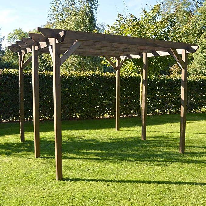 Rutland County Garden Furniture - Pérgola de jardín (Madera, 6 Postes): Amazon.es: Jardín