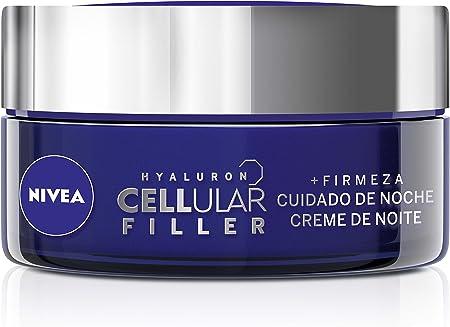 NIVEA Hyaluron Cellular Filler Cuidado de Noche, Crema de Noche Antiarrugas con ácido hialurónico y creatina, 1 x 50 ml