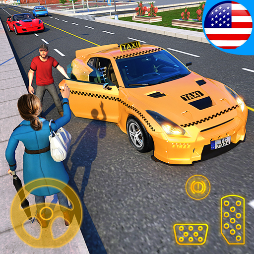 Sports Car Crazy Taxi Driver 2019: Car Driving Simulator Games for Kids - FREE