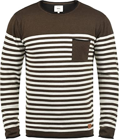 Long Sleeve Camiseta para Hombre t Shirt Manga Larga Camiseta de Rayas de Manga Larga Entallada Hombre,Cuello Redondo