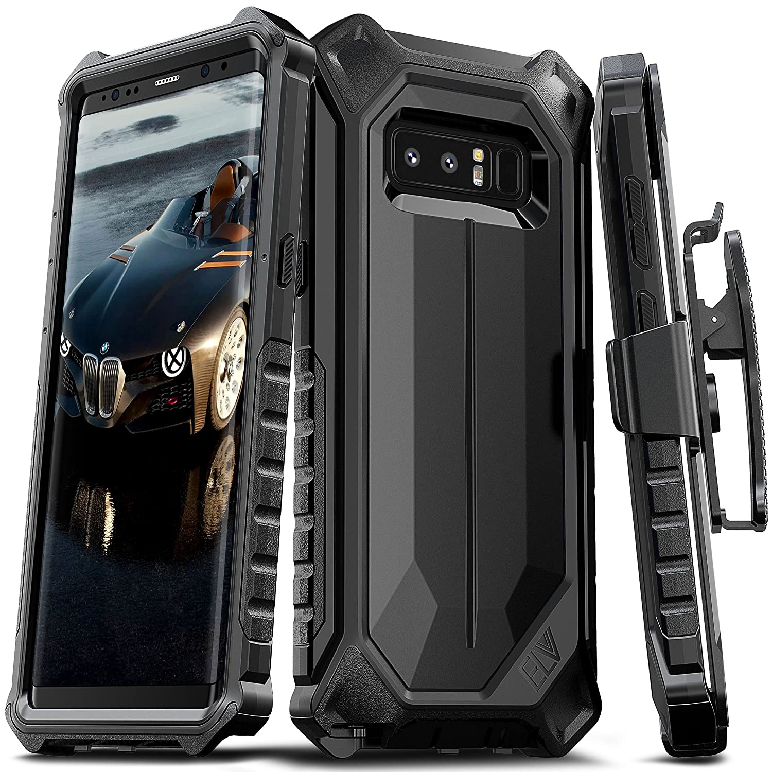 Samsung Galaxy Note 8 Case Elv Premium Holster Belt Xiaomi Redmi S2 Hardcase 360 Full Protective Clip Rugged With Kickstand For Black Cell Phones