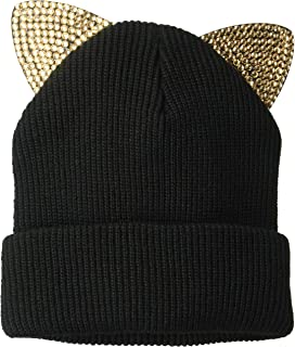 5e149c7f722 D Y Women s David   Young s Knitted cat Ear Beanie with Bling