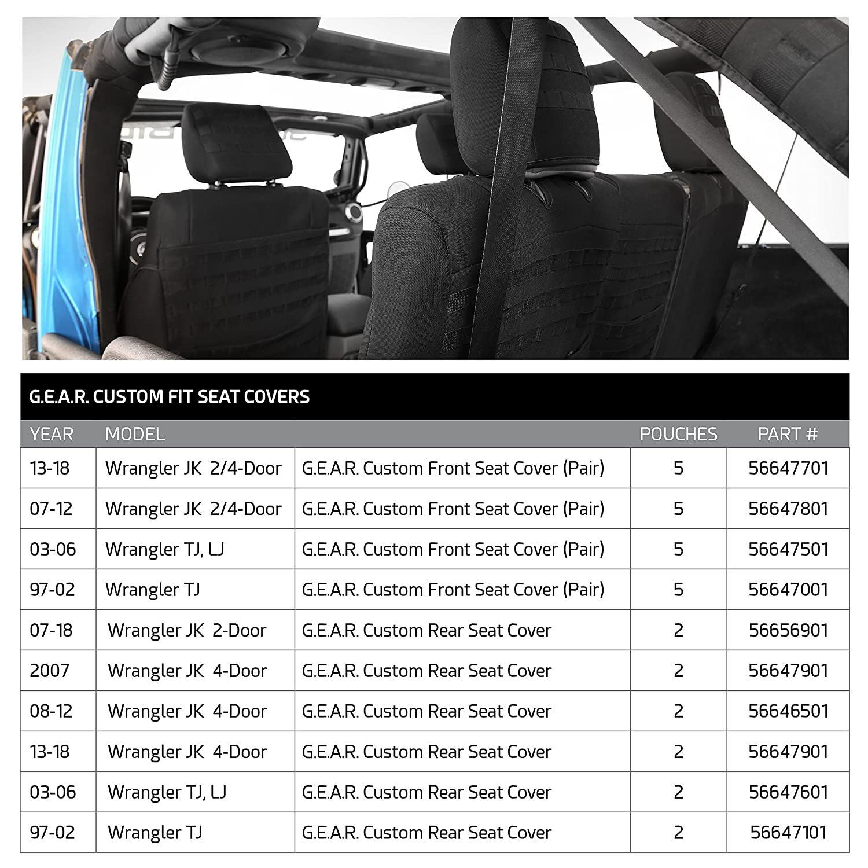 Smittybilt 56647701 Gear Seat Cover