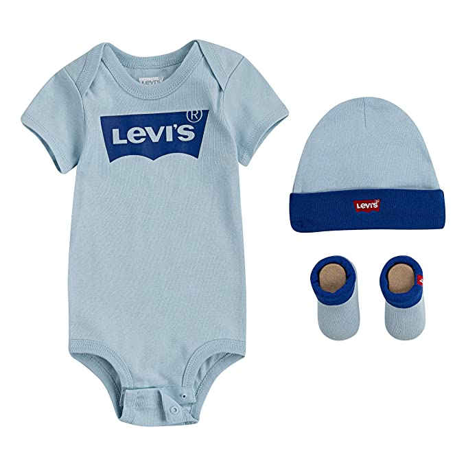 : Levi's Baby Bodysuit, Hat and Bootie 3 Piece Set