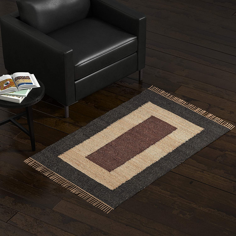 Amazon Brand – Stone & Beam Modern Jute Area Rug, 3 x 5 Foot, Nuetral Multicolor