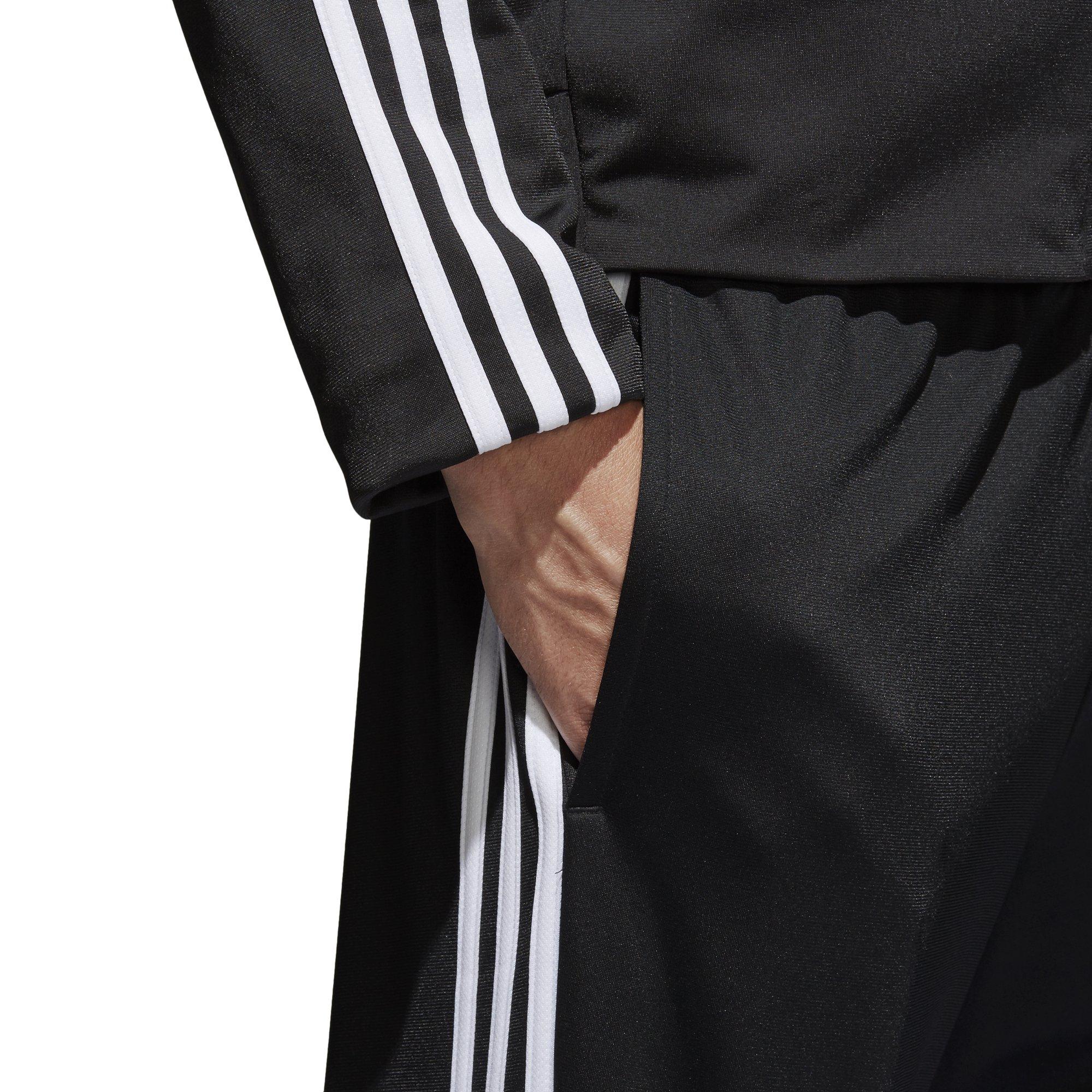 adidas Men's Athletics Essential Tricot 3-Stripe Pants, Black/White, Small by adidas (Image #6)