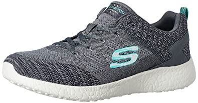 Skechers Sport Women's Burst Fashion Sneaker,Charcoal,6 ...