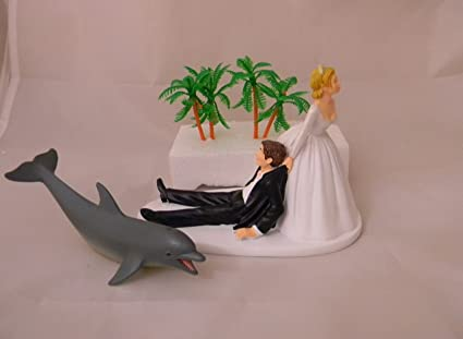 Amazon Wedding Party Reception Dolphin Beach Ocean Sunset Cake