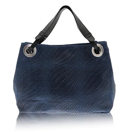 d53d75b580d06 Chicca Borse - Shoulder Bag Borsa a Spalla da Donna Realizzata in Vera  Pelle Made in Italy - 38 x 28 x 10 Cm  Amazon.it  Scarpe e borse