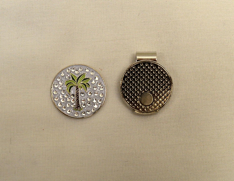 Palm Tree Evergolfクリスタルゴルフボールマーカーwith磁気帽子クリップ – 13753   B0733XNWSR