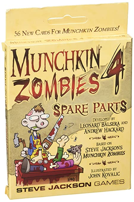 Amazon.com: Munchkin Zombies 4 Spare Parts Game: Toys & Games